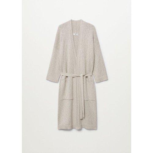 Robe de chambre coton lin - MANGO HOME - Modalova