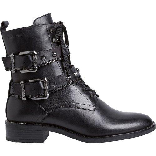 Boots cuir motardes - tamaris - Modalova