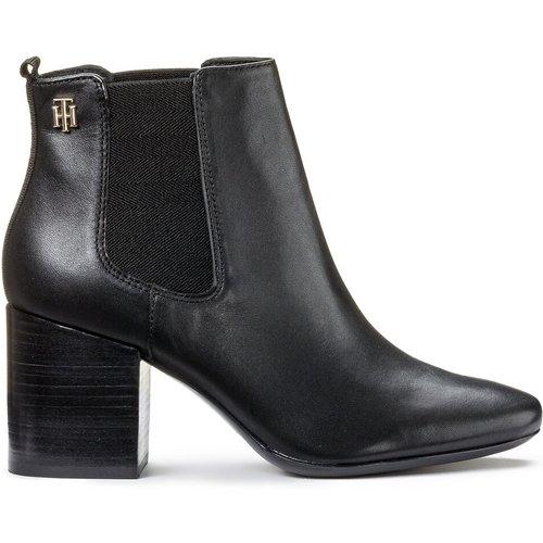 Boots cuir élastiquées à talon haut Essentials - Tommy Hilfiger - Modalova