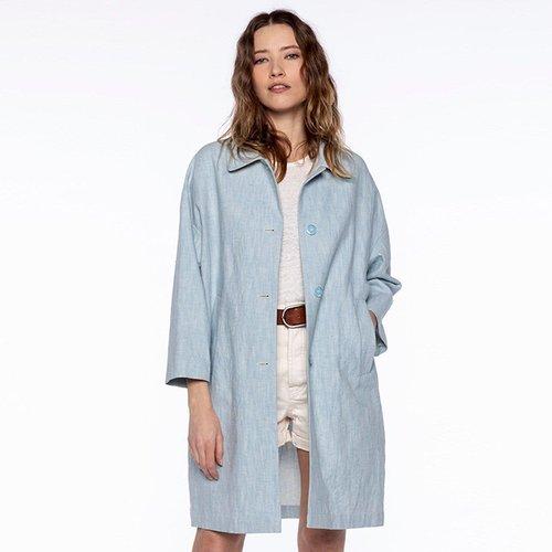Manteau coton et lin rétro CAMARET - TRENCH AND COAT - Modalova