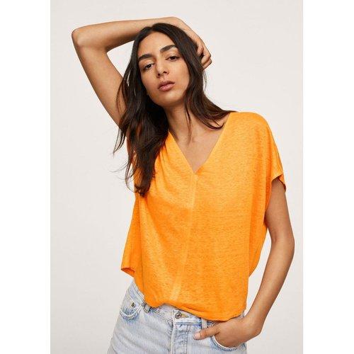T-shirt 100% lin - Mango - Modalova
