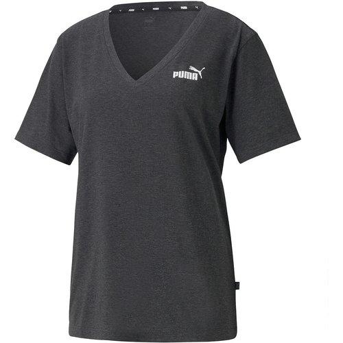 T-shirt manches courtes col V logo devant - Puma - Modalova