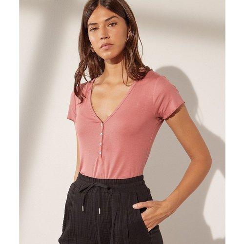 T-shirt col v boutonné ZELIE - ETAM - Modalova