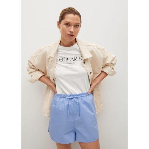 T-shirt coton message - Mango - Modalova