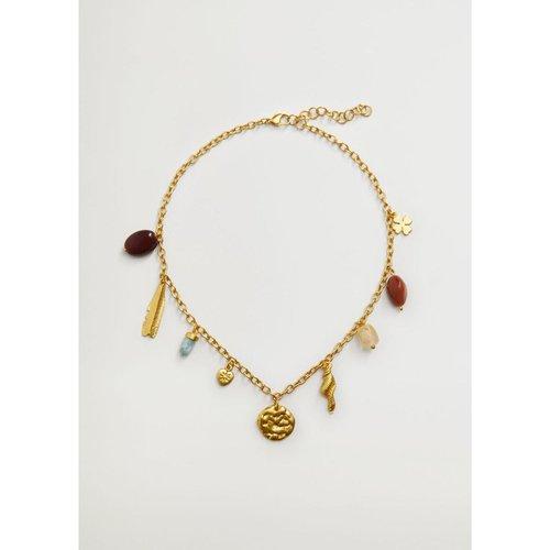 Collier perles combinées - Mango - Modalova