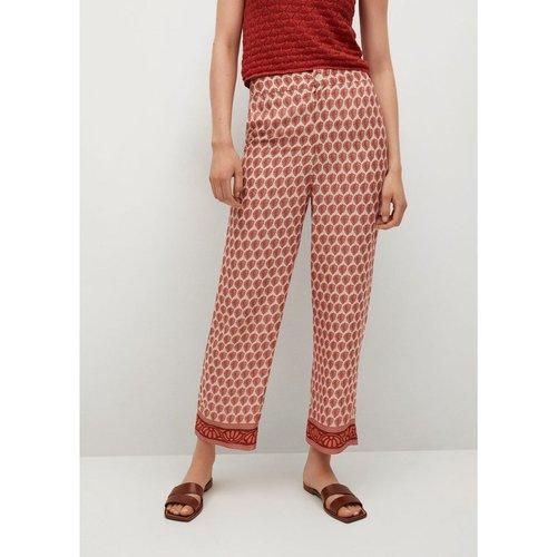 Pantalon à imprimés combinés - Mango - Modalova