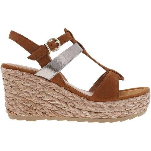 Sandales cuir compensées - marco tozzi - Modalova