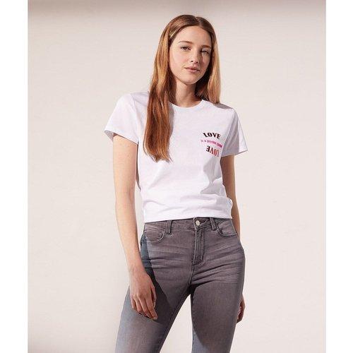 T-shirt manches courtes col rond PSYCHIC LOVE - ETAM - Modalova