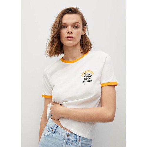 T-shirt coton biologique message - Mango - Modalova