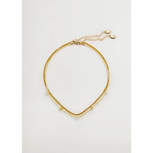 Collier perles de verre - Mango - Modalova