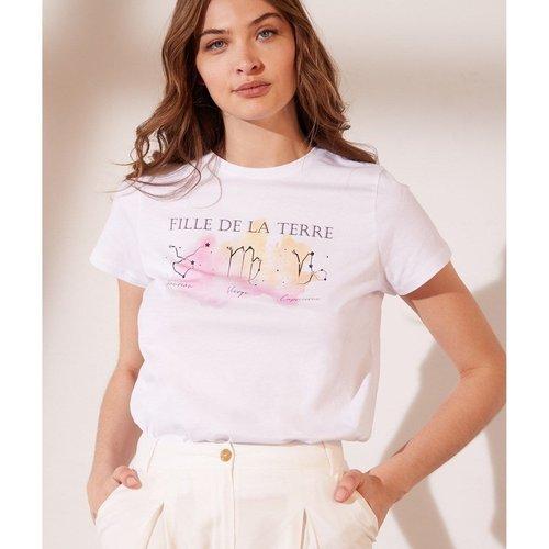 T-shirt imprimé 'fille de la terre' TERRA - ETAM - Modalova