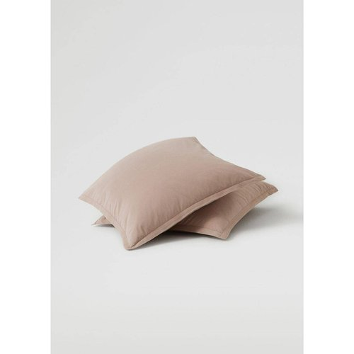 Lot de taies d'oreiller coton lavé 60x60cm - MANGO HOME - Modalova