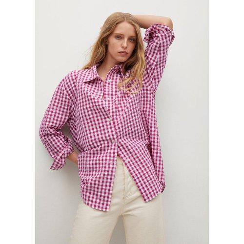 Chemise oversize carreaux - Mango - Modalova