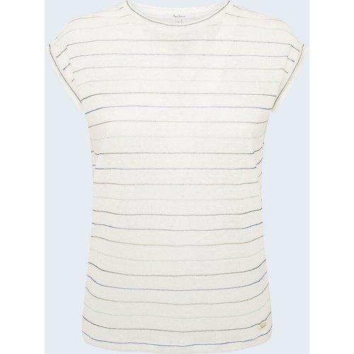 T-shirt rayé en lin - Pepe Jeans - Modalova