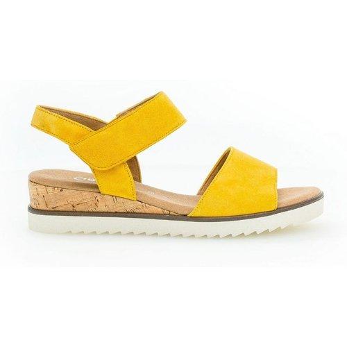 Sandales à semelles plates suede talon recouvert - Gabor - Modalova
