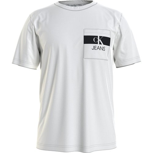 T-shirt col rond Horizontal CK Panel - Calvin Klein Jeans - Modalova