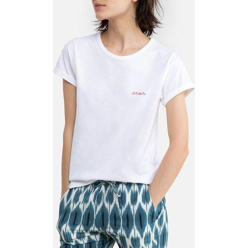 Tee shirt en coton bio col rond manches courtes - MAISON LABICHE - Modalova