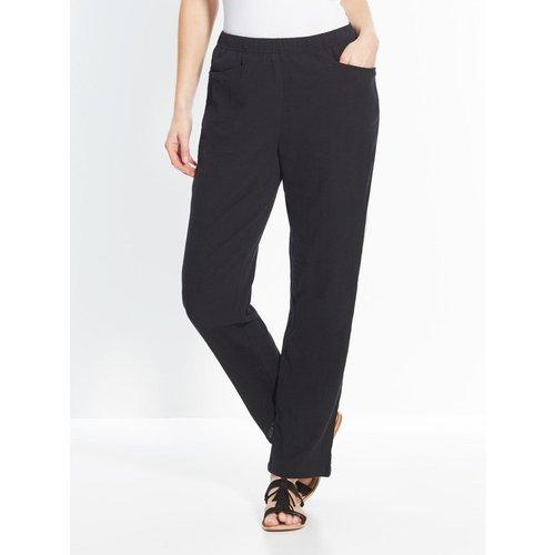 Pantalon en tissu créponné - COULEURS ET PRIX - Modalova