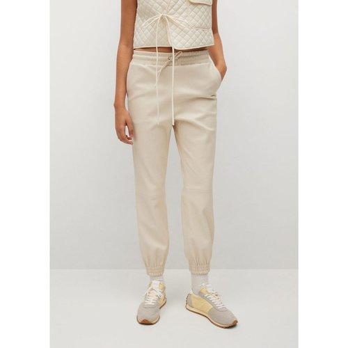 Pantalon taille élastique similicuir - Mango - Modalova