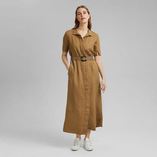 Robe longue col chemise boutonnée - Esprit - Modalova