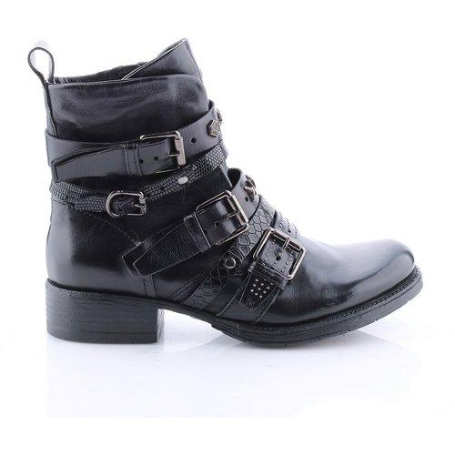 Boots cuir talon plat - MJUS - Modalova