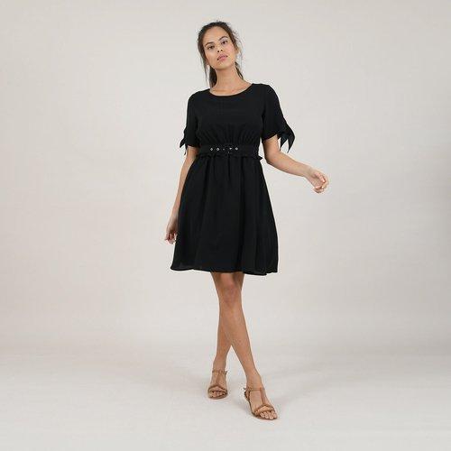 Robe courte évasée, taille ceinturée - MOLLY BRACKEN - Modalova
