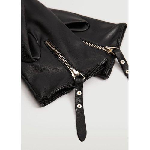 Gants similicuir zippés - Mango - Modalova