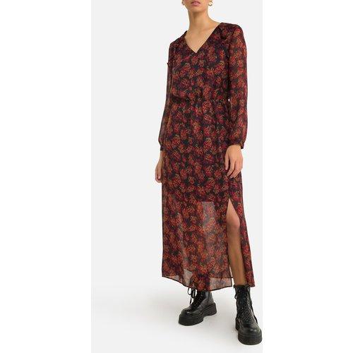 Robe longue droite imprimé floral, longue - IKKS - Modalova