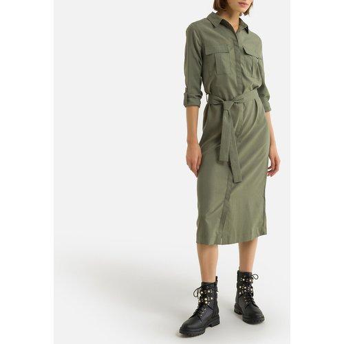 Robe-chemise longue, coupe droite, manches longues - Pepe Jeans - Modalova
