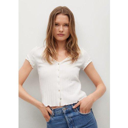 T-shirt côtelé boutons - Mango - Modalova