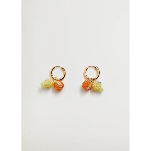 Boucles d'oreilles pendantes cercles - Mango - Modalova