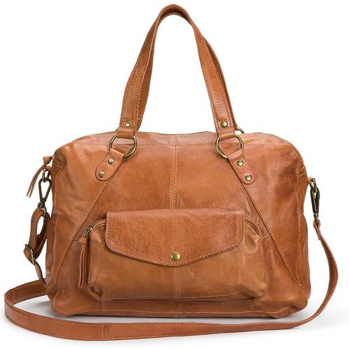Grand sac en cuir Liv - Pieces - Modalova