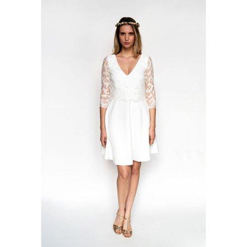Robe de mariée CLAIRE-MARIE, made in France - HARPE - Modalova
