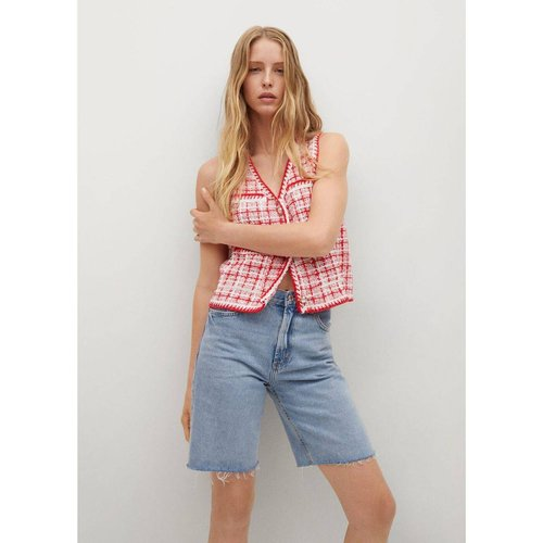 Gilet tweed poches - Mango - Modalova