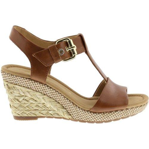 Sandales compensées cuir talon recouvert - Gabor - Modalova