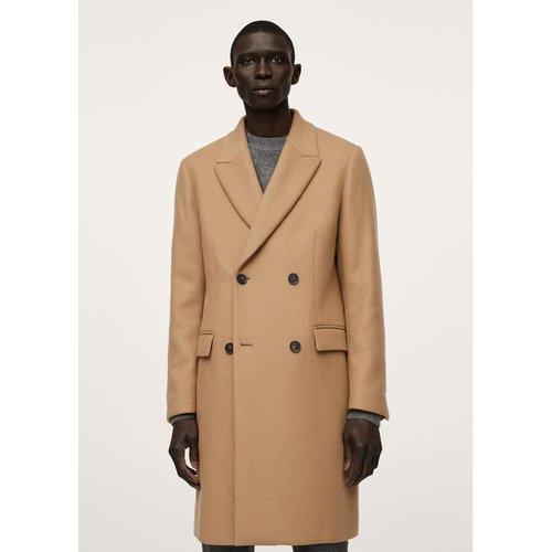 Manteau long en laine - mango man - Modalova