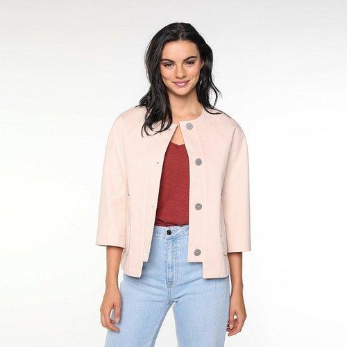 Veste piqué de coton sans col ALENYA - TRENCH AND COAT - Modalova