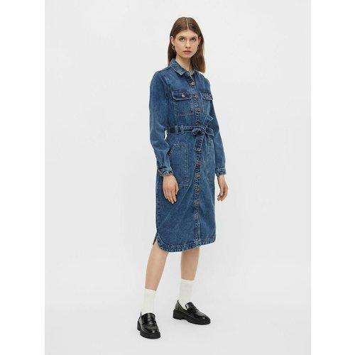 Robe en jean Manches longues - Pieces - Modalova