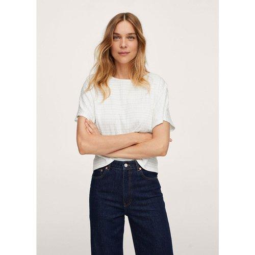 T-shirt coton texturé - Mango - Modalova