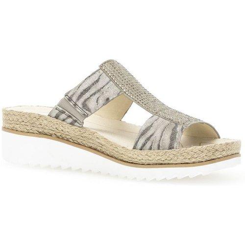 Sandales cuir talon compensé recouvert plateau - Gabor - Modalova
