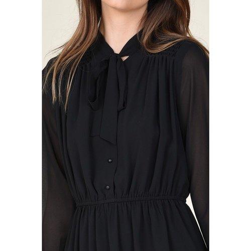 Mini robe col lavallière - MOLLY BRACKEN - Modalova