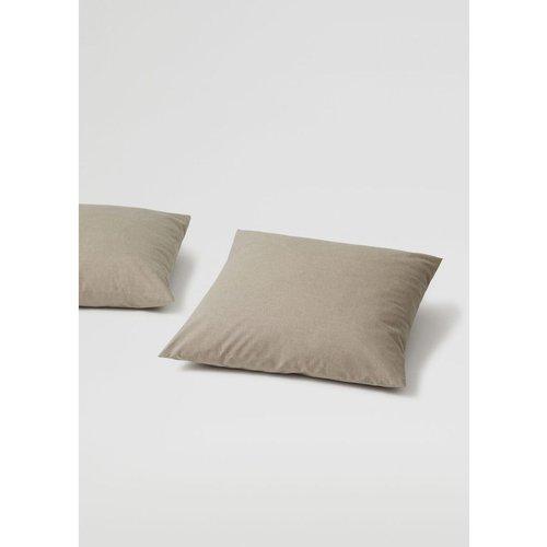 Lot de taies d'oreiller coton rayures 60x60cm - MANGO HOME - Modalova