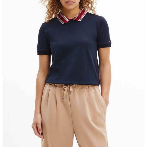 Tee shirt col claudine manches courtes - Tommy Hilfiger - Modalova