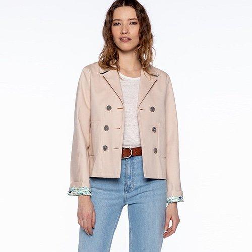 Veste piqué de coton courte MIREVAL - TRENCH AND COAT - Modalova