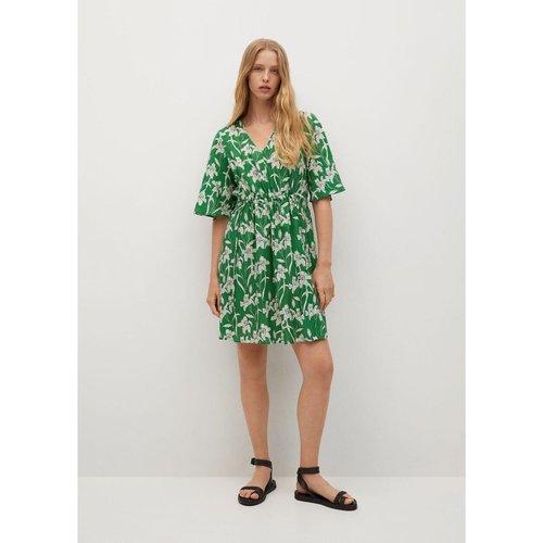 Robe froncée imprimée - Mango - Modalova