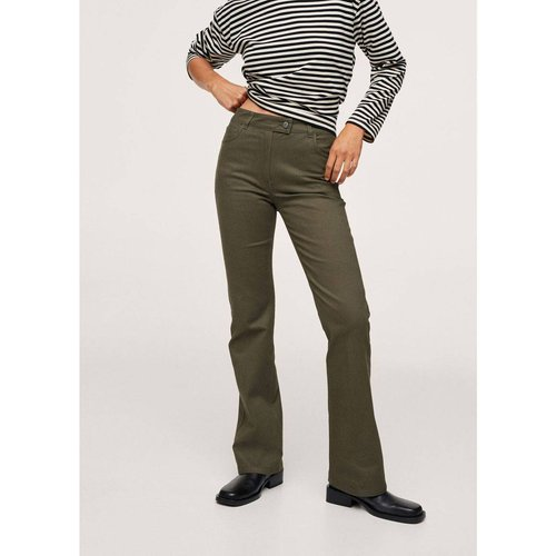 Pantalon coton évasé - Mango - Modalova