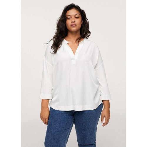 T-shirt fluide combiné - Mango - Modalova