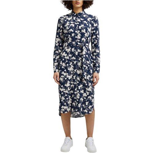 Robe à motifs col chemise et manches longues - Esprit - Modalova