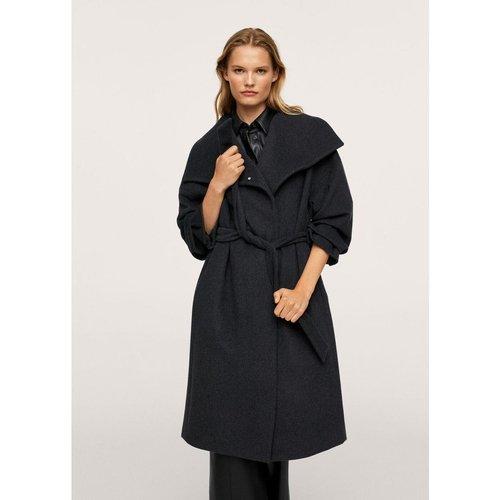 Manteau laine ceinture - Mango - Modalova