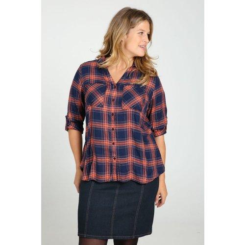 Chemise à carreaux col chemise manches longues - PAPRIKA - Modalova